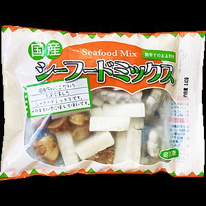 国産シーフードミックス(イカ・ホタテ・エビ)140g